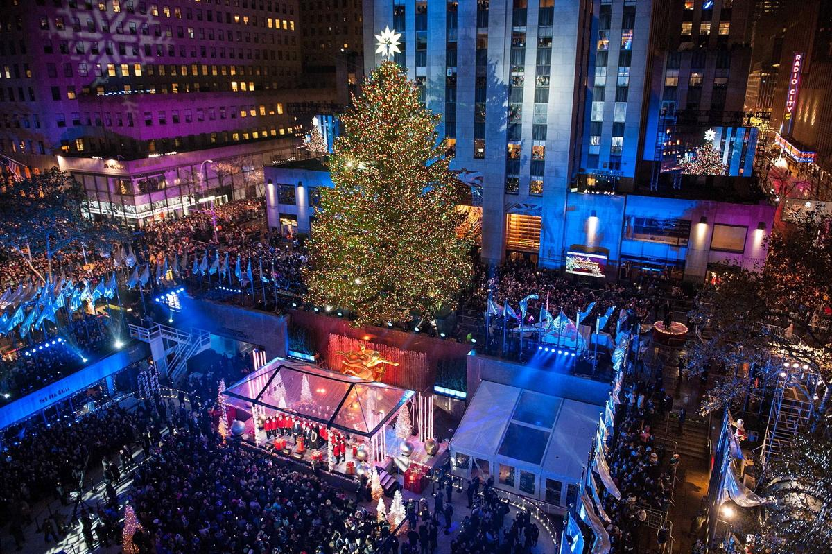 this is a photo of the rockefeller center christmas tree - When Does The Christmas Tree Go Up